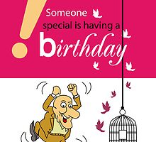 Happy Birthday Greeting Card by Baker  Alhashki