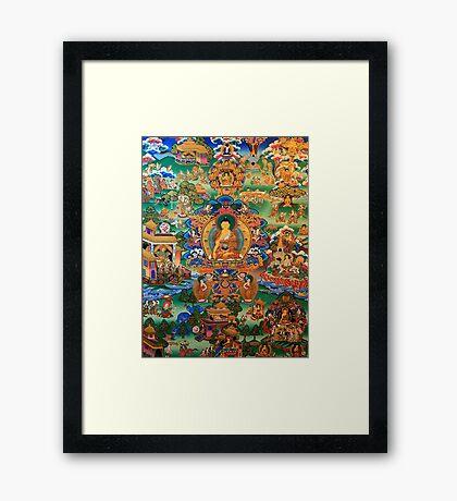 Buddha Life Story Framed Print