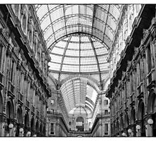 Galleria Vittorio Emanuele II in black and white by CreaRestless