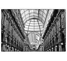 Galleria Vittorio Emanuele II in black and white Photographic Print
