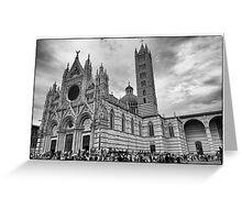 Duomo di Siena in black and white Greeting Card