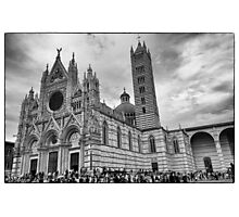 Duomo di Siena in black and white Photographic Print