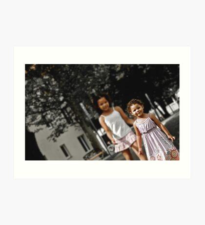Innocent Future 2; Sisters Art Print