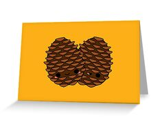 Cute pine cones Greeting Card