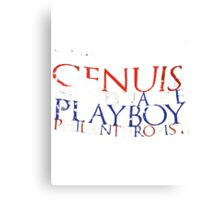 """Genius, Billionaire, Playboy, Philanthropist""  Canvas Print"