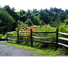 Country Fence.. Photographic Print