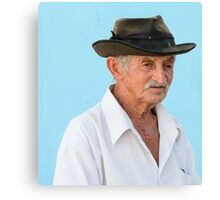 Man in hat. Canvas Print