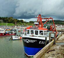 Stormy August ~ Lyme Regis Harbour by Susie Peek