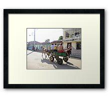 Boys travelling. Framed Print