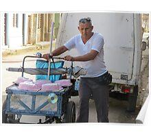 Cake vendor. Poster
