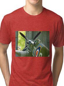 Spitfire Mk IX MH434 - Hanger 2 Duxford Tri-blend T-Shirt