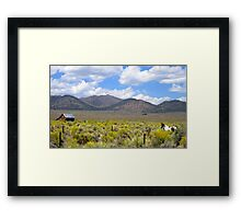 A Ranch Somewhere Framed Print