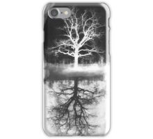 black tree - tree white  iPhone Case/Skin