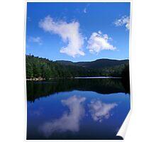 Reflection on the pond - Sterling pond, Cambridge, VT Poster