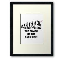 star wars dark side Framed Print