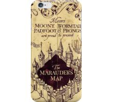 The Marauders Map Harry potter castle iPhone Case/Skin