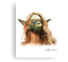 White Girl Yoda Canvas Print