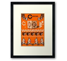 Portal Knitted Style Framed Print