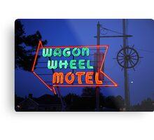 Route 66 - Wagon Wheel Motel Metal Print
