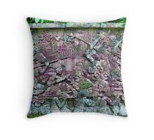 Fort Canning's Mural wall Throw Pillow