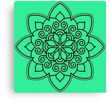Simple Swirl Mandala Canvas Print