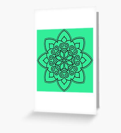 Simple Swirl Mandala Greeting Card