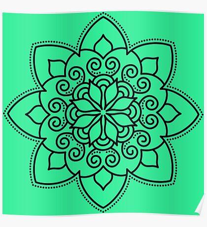 Simple Swirl Mandala Poster