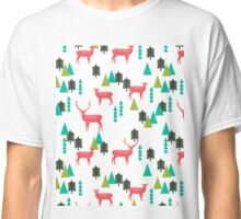 Reindeer Forest - White by Andrea Lauren  Classic T-Shirt