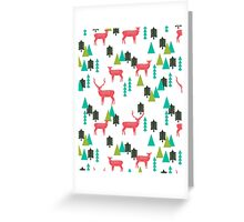 Reindeer Forest - White by Andrea Lauren  Greeting Card