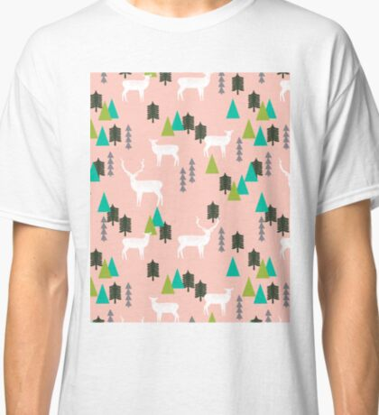 Reindeer Forest - Blush by Andrea Lauren Classic T-Shirt