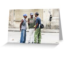 The conversation. Greeting Card