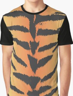 Animal Print, Tiger Stripes - Black Orange  Graphic T-Shirt