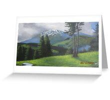 Makra peak kaghan valley (landscape painting ) Greeting Card
