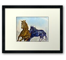 HORSE PLAY Framed Print