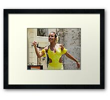 Girl in yellow. Framed Print