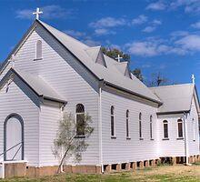 The Country Church, Garah, NSW by Adrian Paul