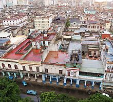 Havana buildings. by Anne Scantlebury