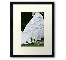 Bridal Dress Framed Print
