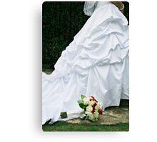 Bridal Dress Canvas Print