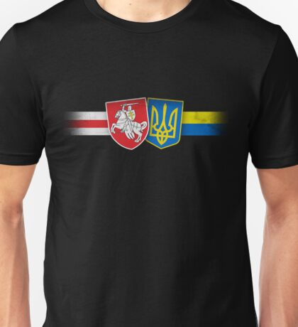 Belarus and Ukraine Brothers forever Unisex T-Shirt