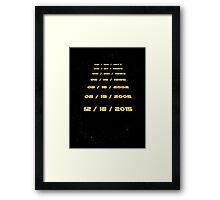 The Force Awaits Framed Print