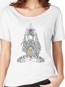 Yoga Om Chakras Mindfulness Meditation Zen 1 Women's Relaxed Fit T-Shirt