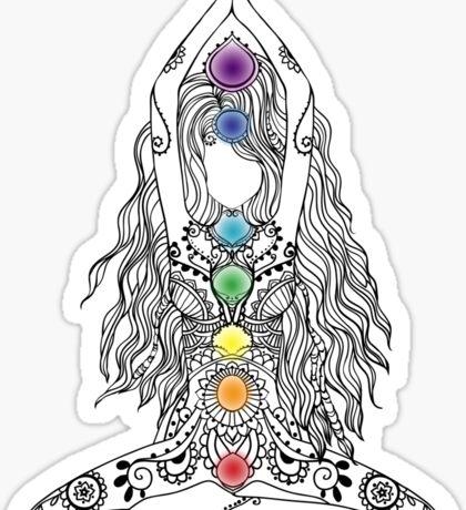 Yoga Om Chakras Mindfulness Meditation Zen 1 Sticker