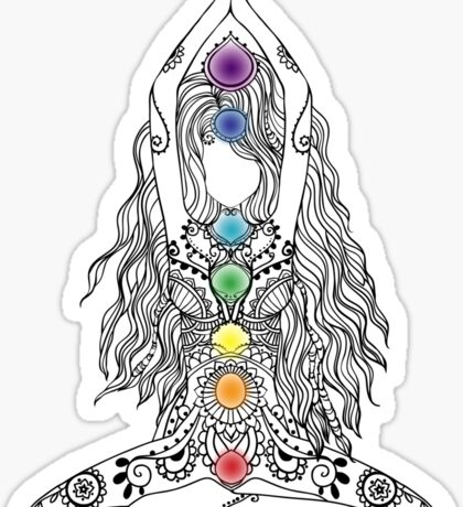 Yoga Om Chakras Mindfulness Meditation Zen 1 Sticker