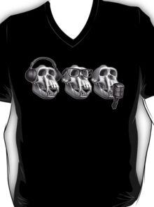 Hear Evil See Evil Speak Evil Monkey Skull T-Shirt