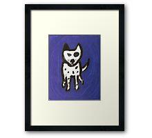 Blue Odie Framed Print