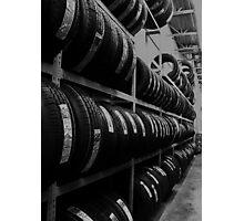 Tire Rack Photographic Print