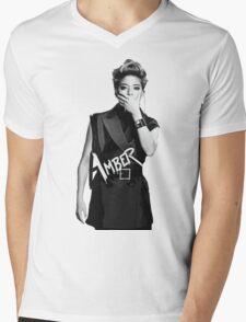 f(x) - Amber Mens V-Neck T-Shirt