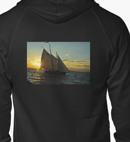 Florida Sailboat Sunset Keys :) Zipped Hoodie