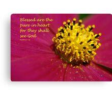Matthew 5:8 Canvas Print